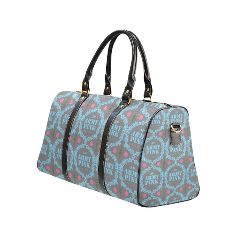 Small gray blue wreath Travel Bag for  at ARMY PINK