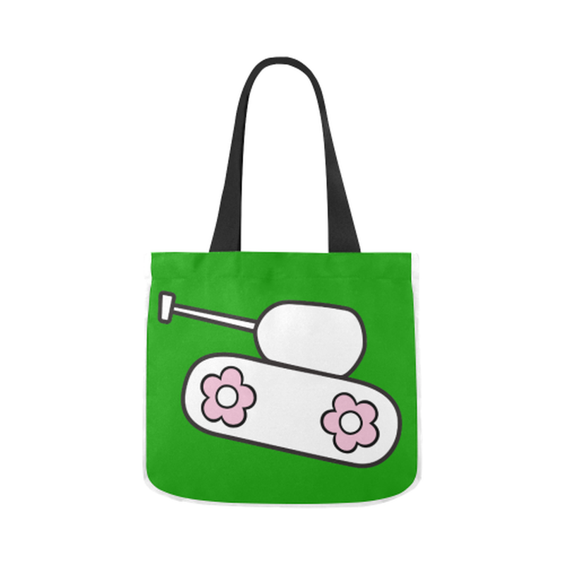 Green tank Canvas Tote Bag for  at ARMY PINK
