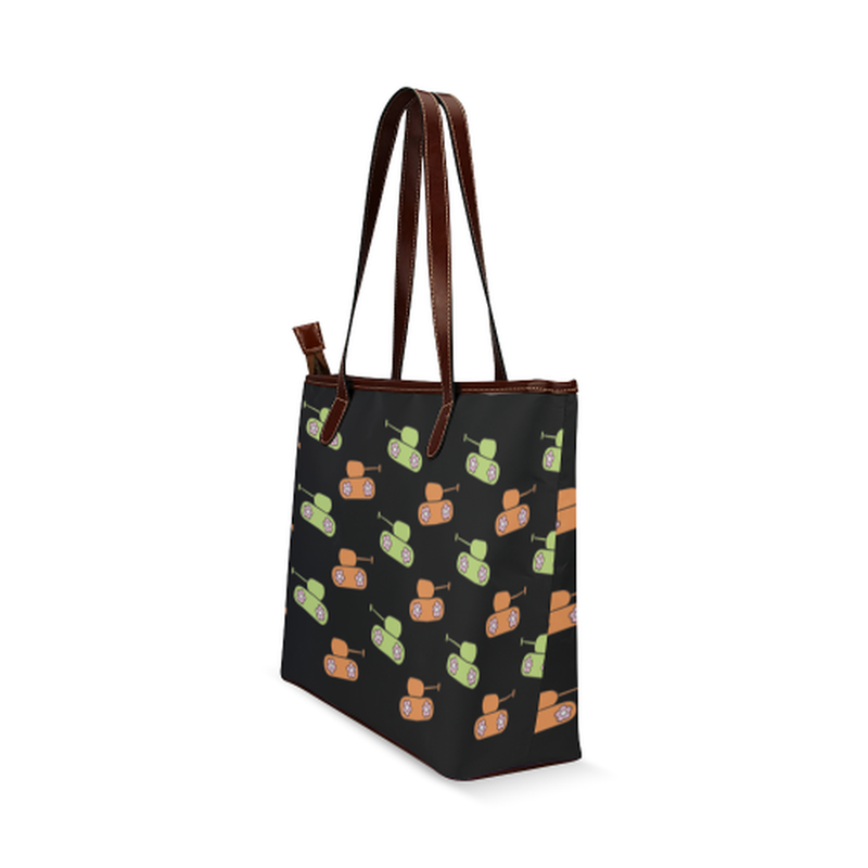 shoulder tote orange green tanks Shoulder Tote Bag (Model 1646) for  at ARMY PINK