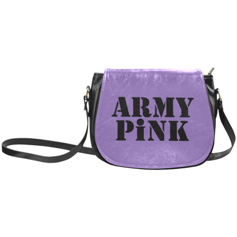 Army Pink on Purple Classic Saddle Bag ${product-type) ${shop-name)