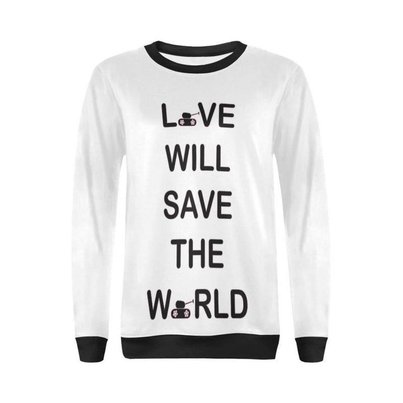 Black love will save Crewneck Sweatshirt for 40.00 at ARMY PINK