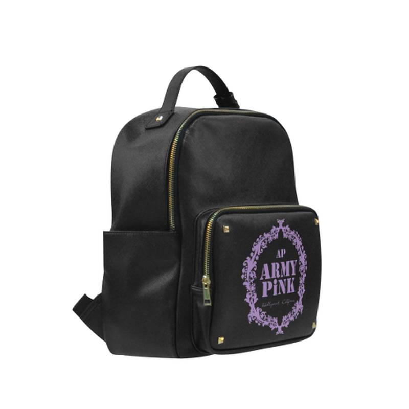 Purple wreath on black Campus backpack/Small (Model 1650) for  at ARMY PINK