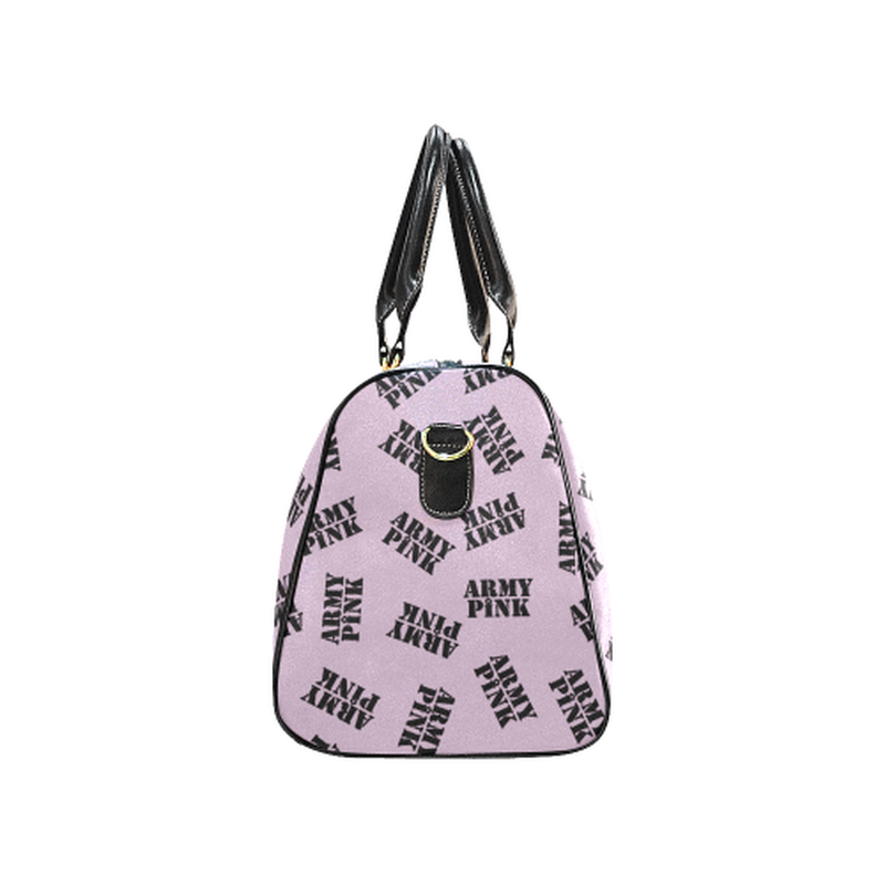 Small lilac black stamp Travel Bag for  at ARMY PINK