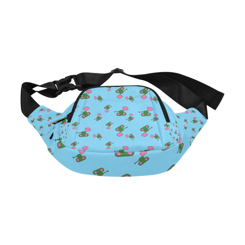 Logo print blue Fanny Pack for  at ARMY PINK
