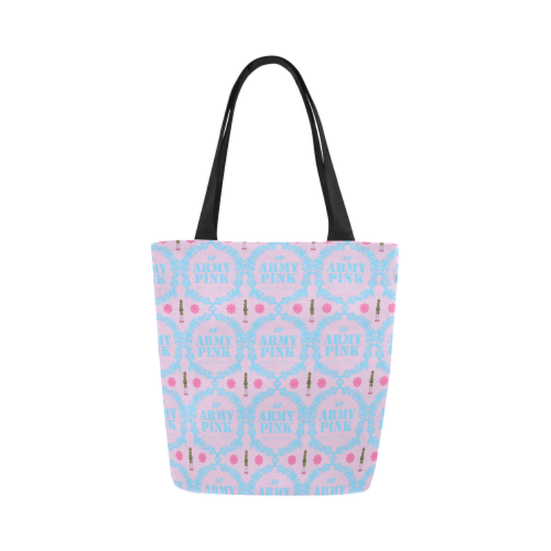 Lilac wreath Canvas Tote Bag for  at ARMY PINK