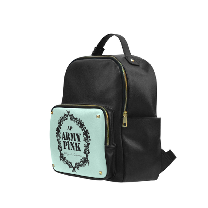 Black wreath on mint small backpack for  at ARMY PINK