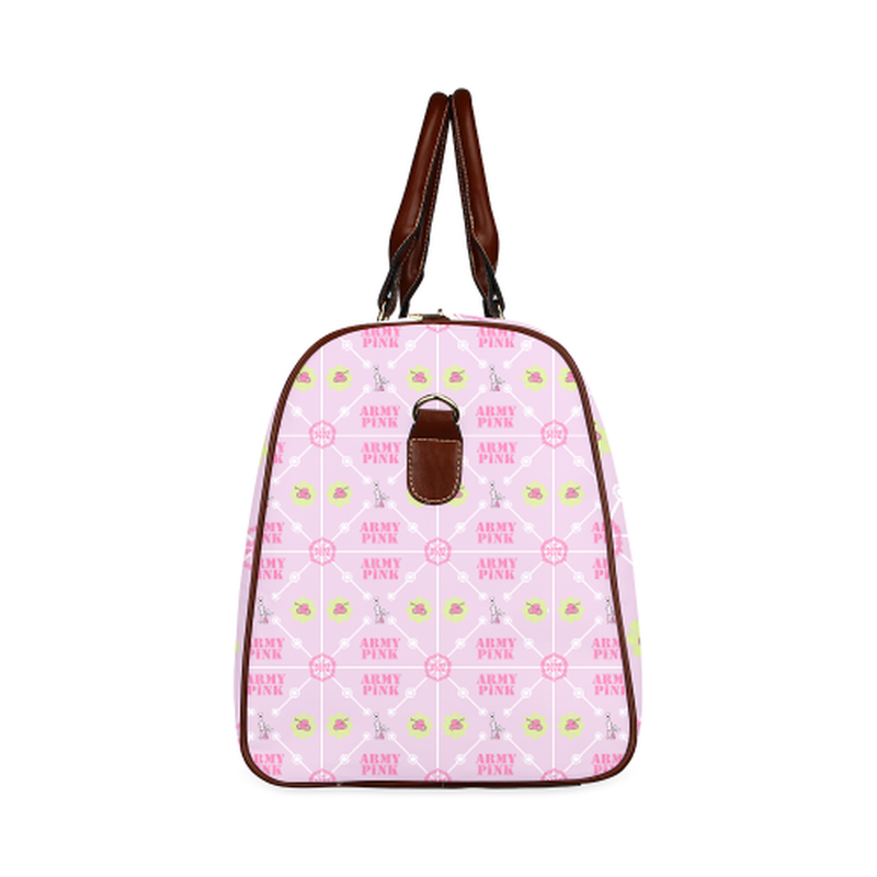 small travel pastel marchers diamond on violet Waterproof Travel Bag/Small (Model 1639) for  at ARMY PINK