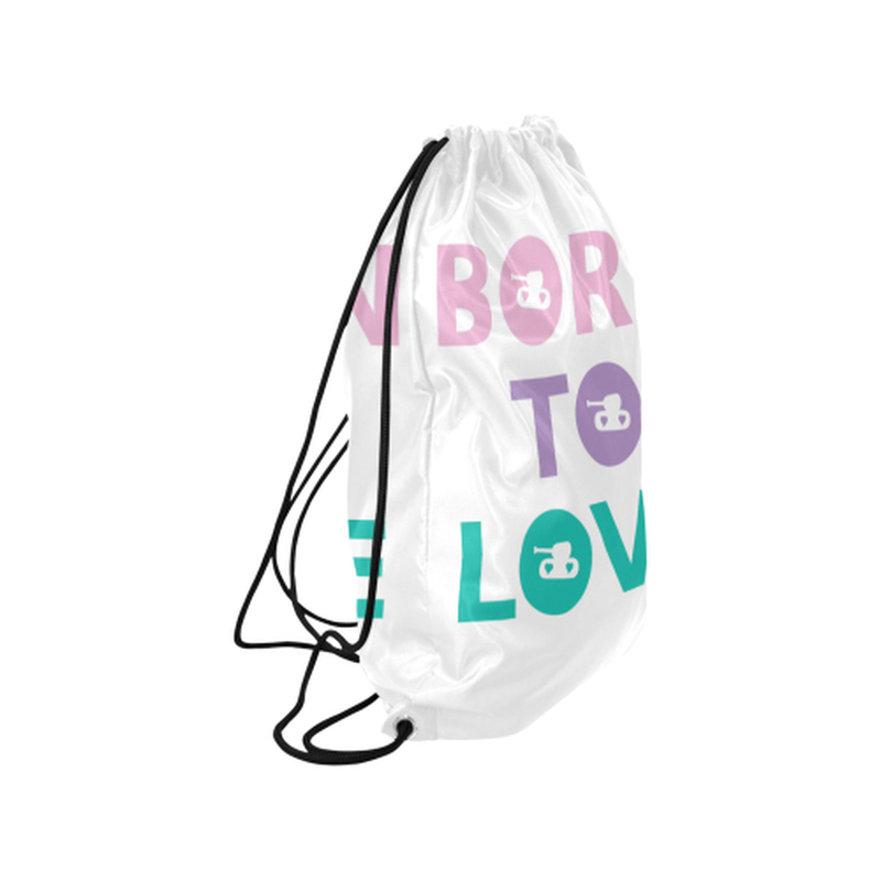 Pastel born to love Drawstring Bag for  at ARMY PINK