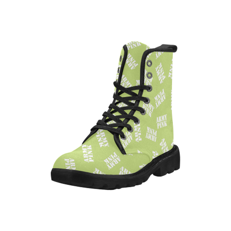 White stamps green Boots for 60.00 at ARMY PINK