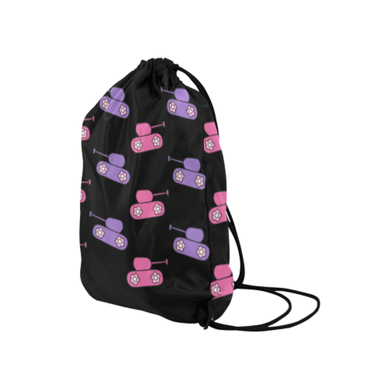 "drawstring pink purple tanks Medium Drawstring Bag Model 1604 (Twin Sides) 13.8""(W) * 18.1""(H) for  at ARMY PINK"