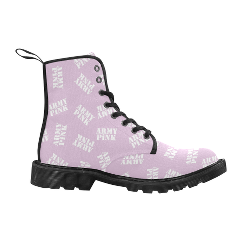 White stamps violet Boots for 60.00 at ARMY PINK