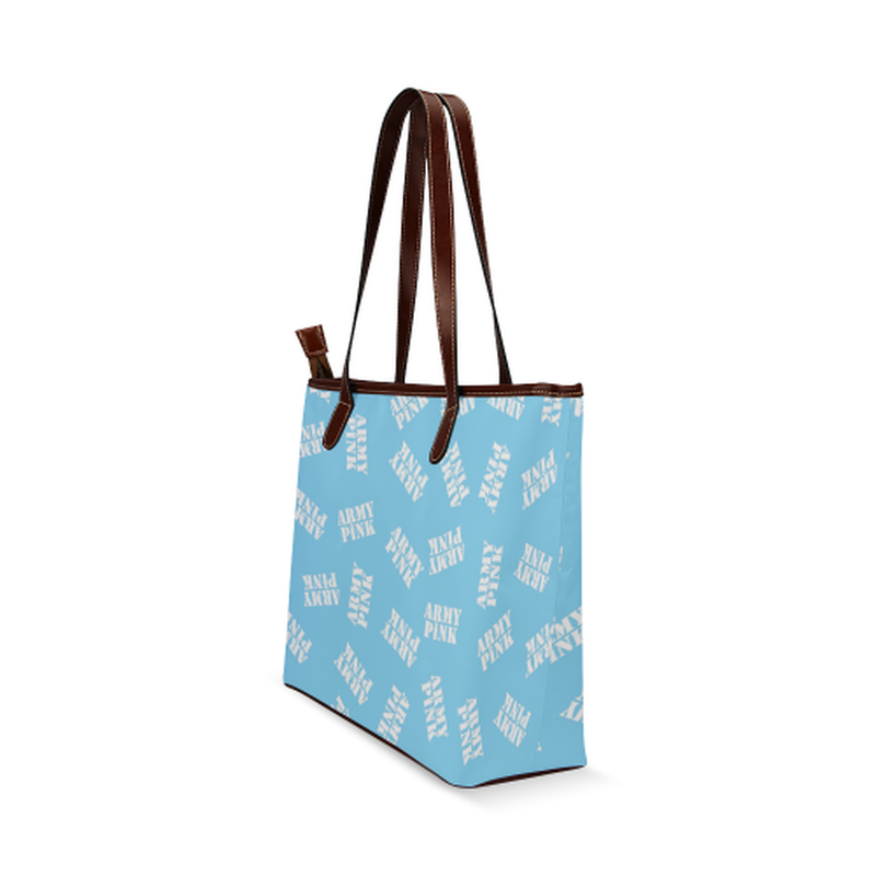 White stamps on bright blue Shoulder Tote Bag (Model 1646) for  at ARMY PINK