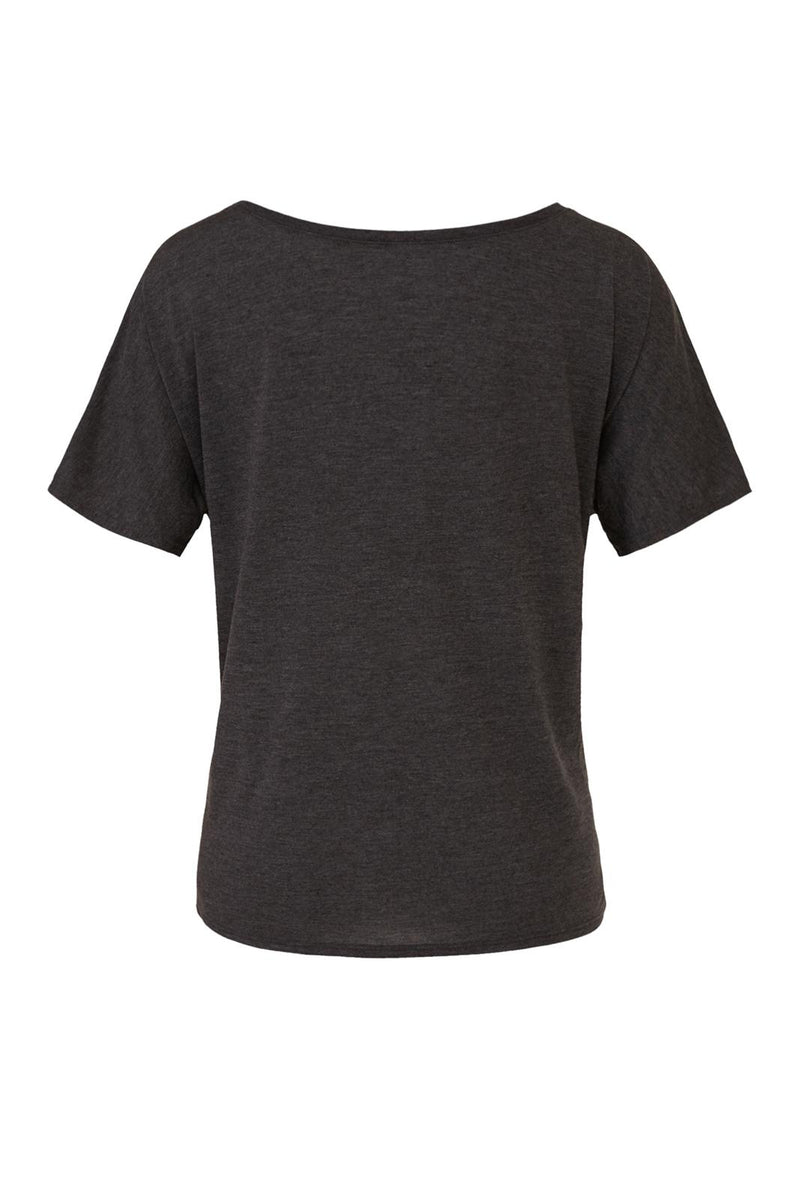 Dark Gray Heather Slouchy T-shirt with gray arch tank graphic for 34.00 at ARMY PINK