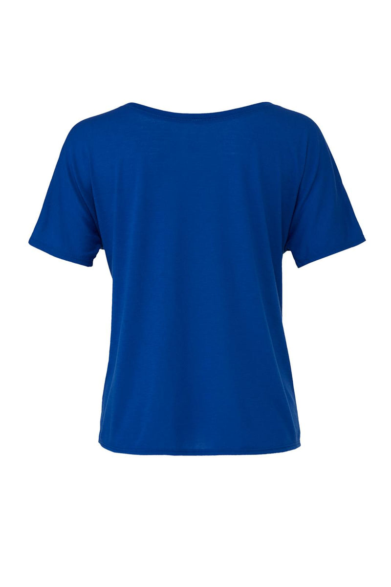Royal blue Slouchy T-shirt with blue peacekeeper graphic for 34.00 at ARMY PINK