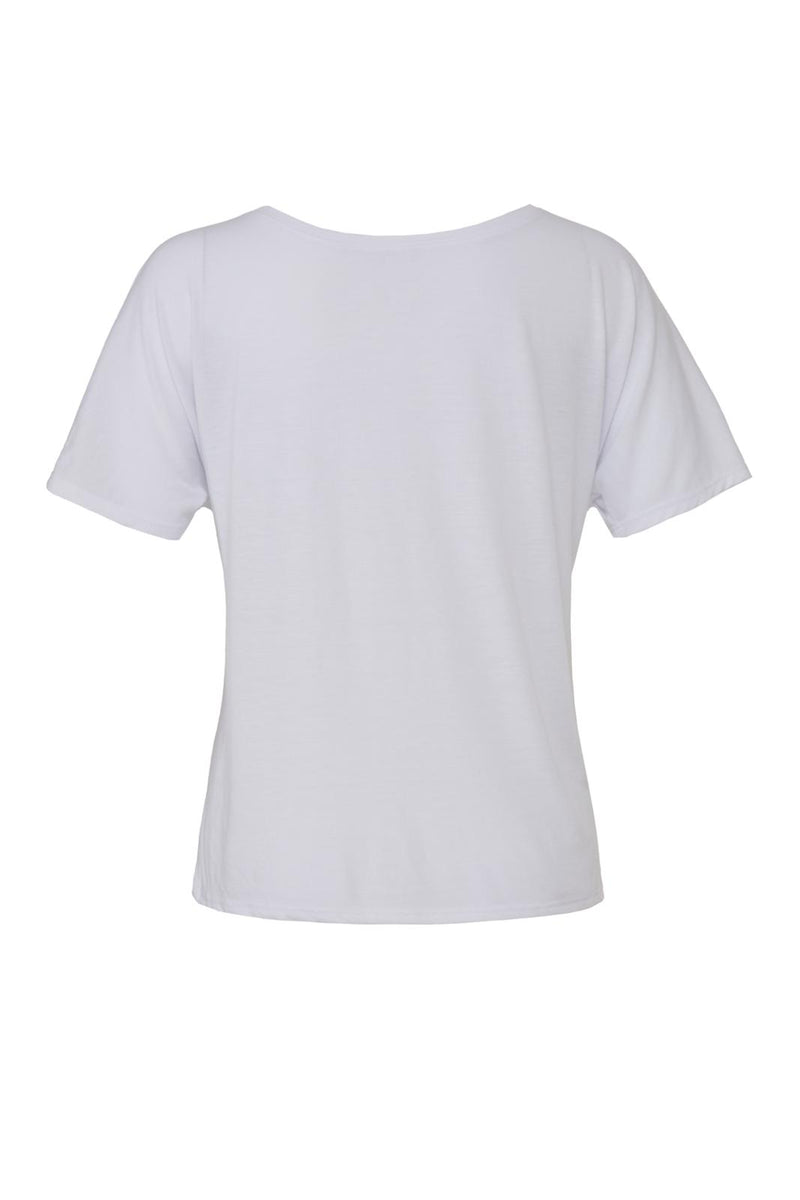 White Slouchy T-shirt with purple peacekeeper graphic for 34.00 at ARMY PINK