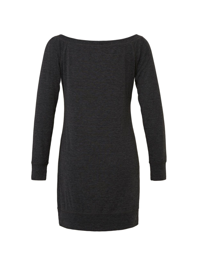 Gray Lightweight Sweater Dress with white love will save graphic for 55.00 at ARMY PINK