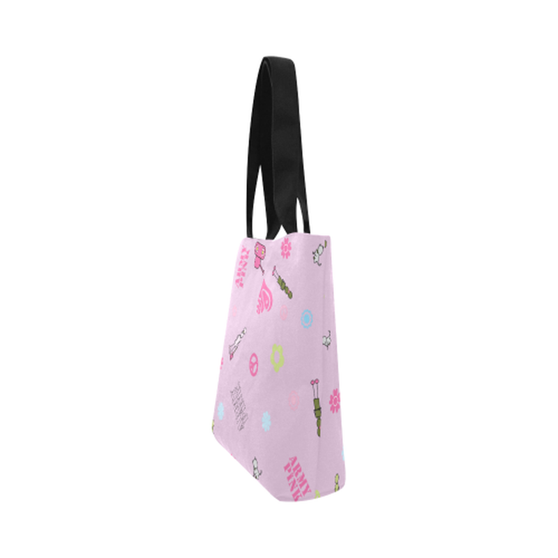 Pink logo Canvas Tote Bag for  at ARMY PINK