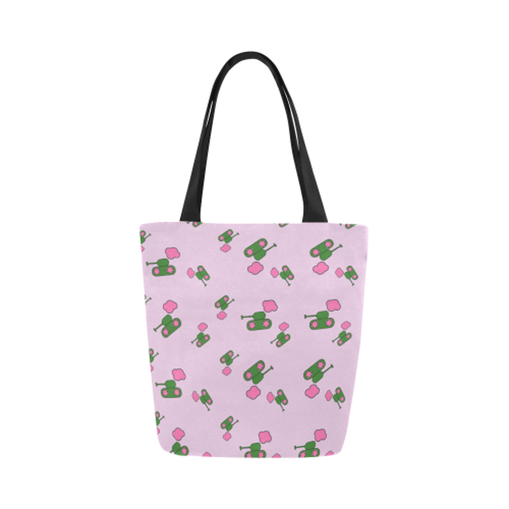 Pink tank cloud Canvas Tote Bag ${product-type) ${shop-name)