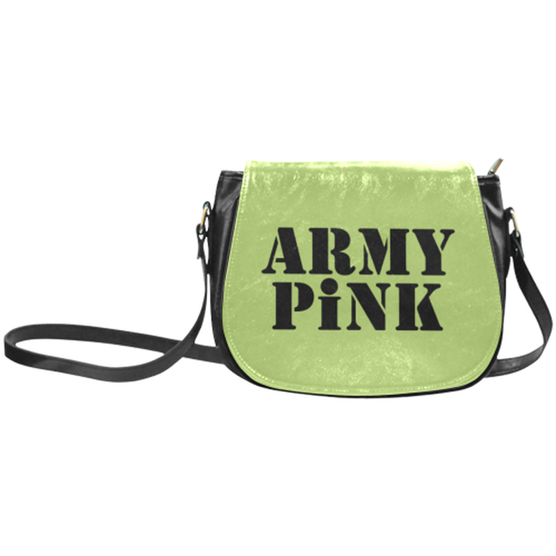 Army Pink on Green Classic Saddle Bag for  at ARMY PINK