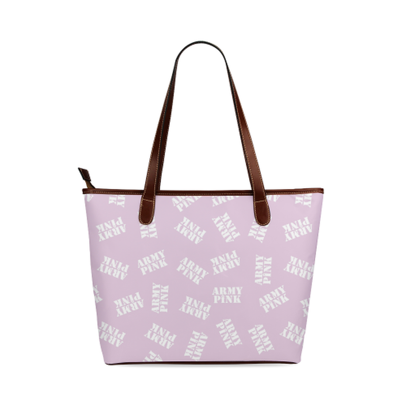 White stamps on violet Shoulder Tote Bag (Model 1646) for  at ARMY PINK