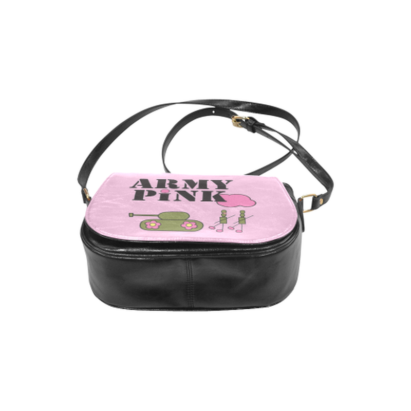 Logo on pink Saddle Bag for  at ARMY PINK