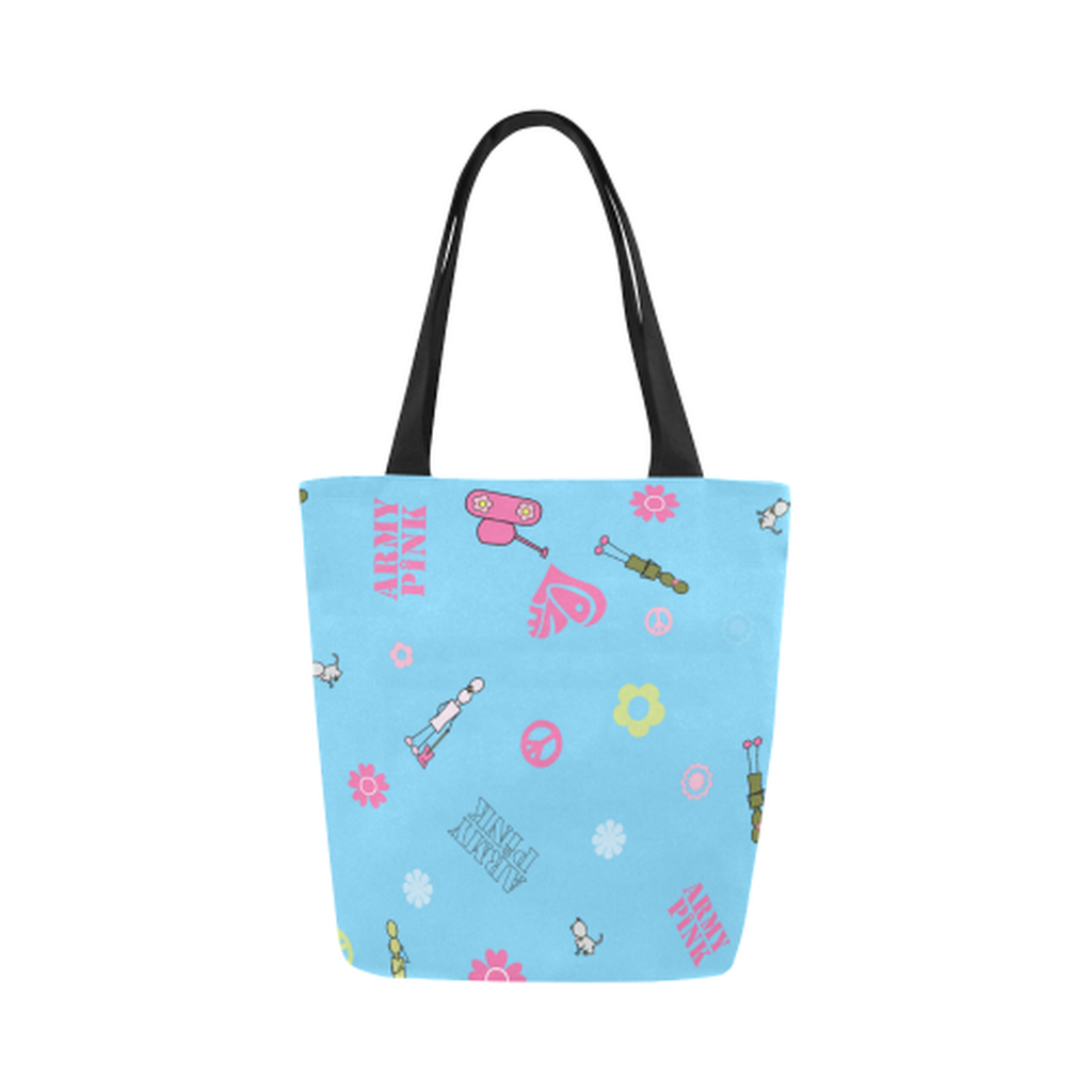 Blue logo Canvas Tote Bag ${product-type) ${shop-name)