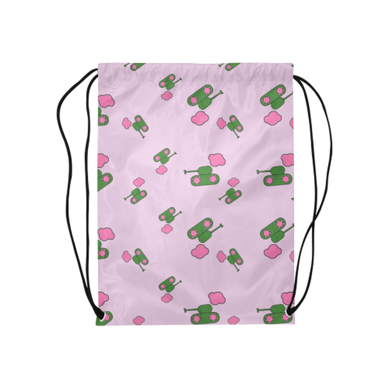 Pink tank cloud Drawstring Bag ${product-type) ${shop-name)