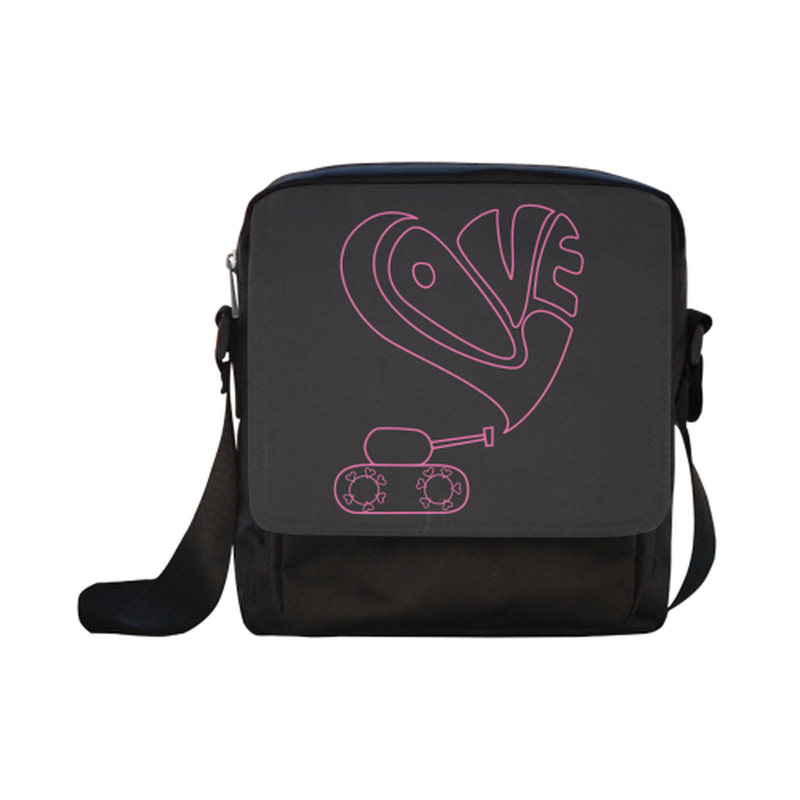 Pink love tank Crossbody Nylon Bag for  at ARMY PINK