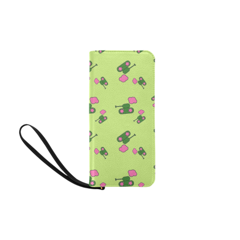 Tanks and clouds green Clutch Purse for  at ARMY PINK