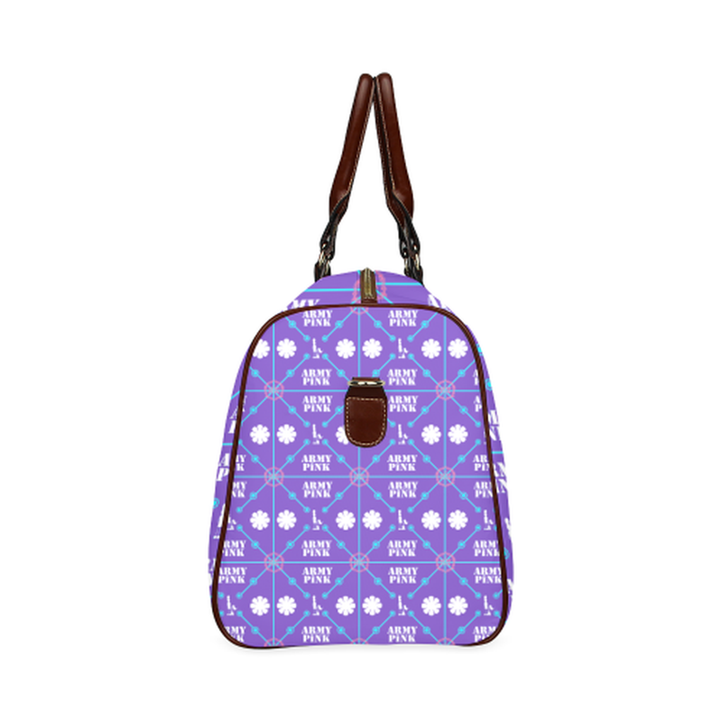 large travel bag diamond aop on purple Waterproof Travel Bag/Large (Model 1639) for  at ARMY PINK