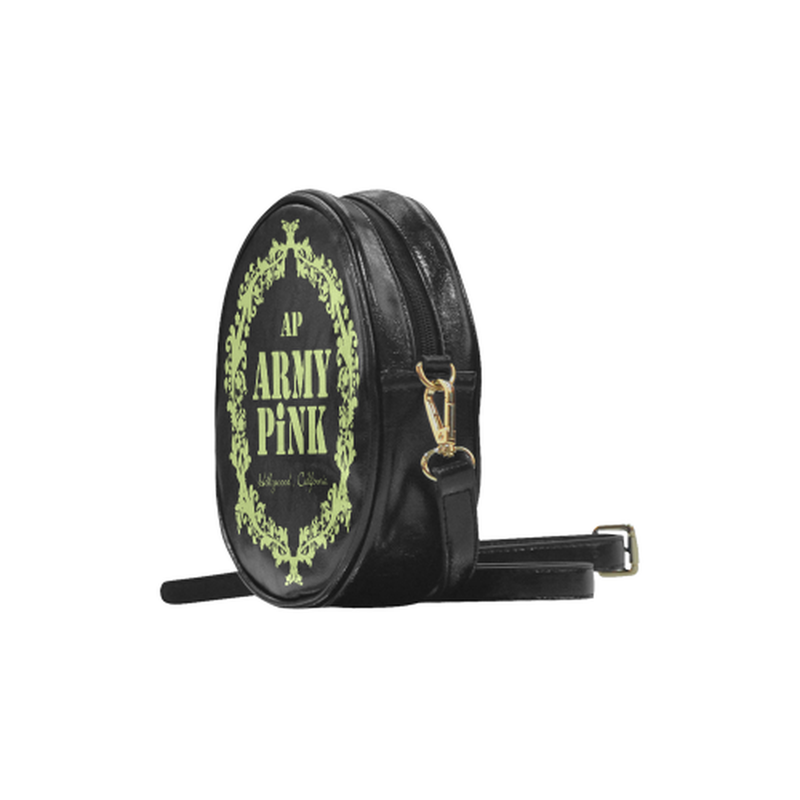 sling green wreath Round Sling Bag (Model 1647) for  at ARMY PINK