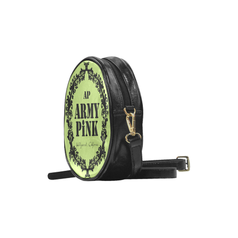 Green black wreath Round Sling Bag ${product-type) ${shop-name)