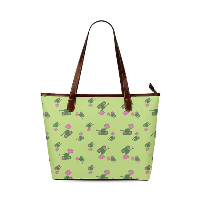 Green tank cloud Tote Bag ${product-type) ${shop-name)