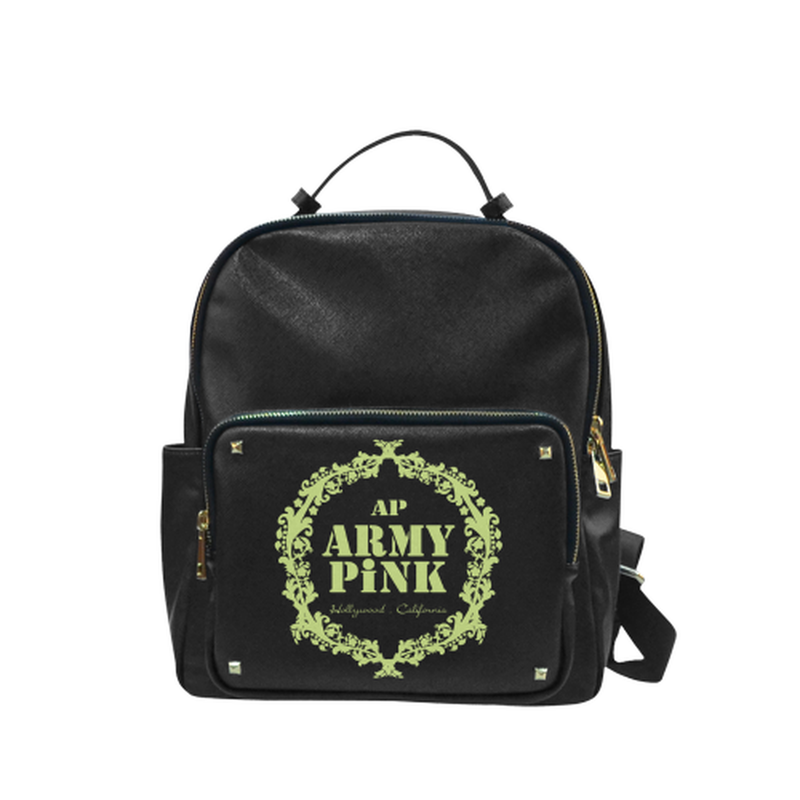 Green wreath on black Campus backpack/Small (Model 1650) for  at ARMY PINK