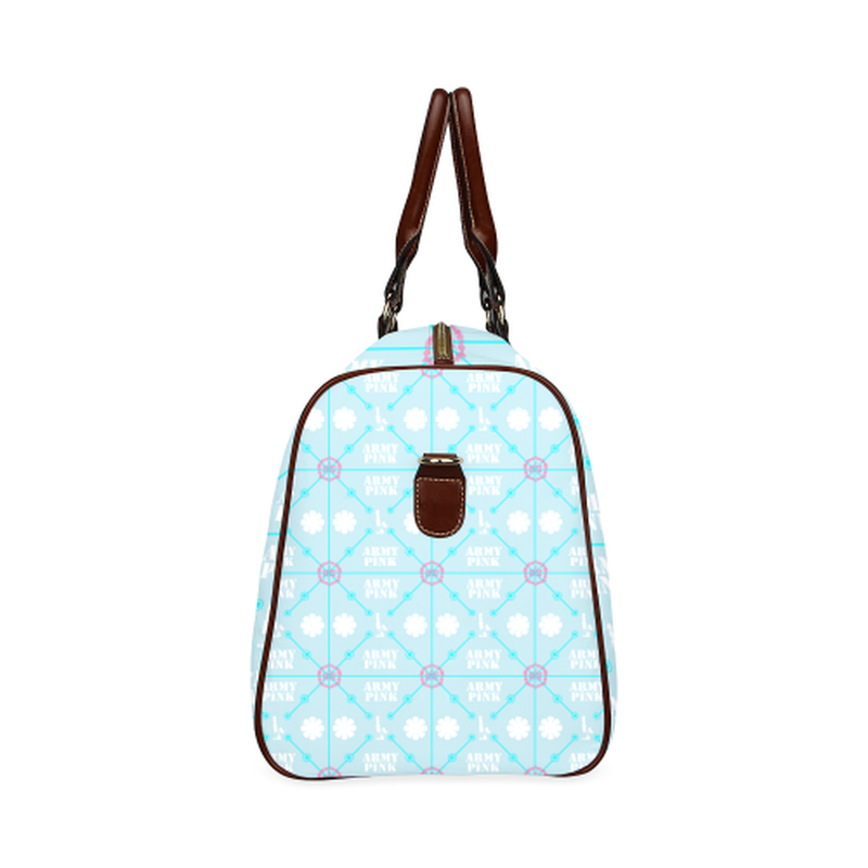 large travel diamind marchers on blue Waterproof Travel Bag/Large (Model 1639) for  at ARMY PINK