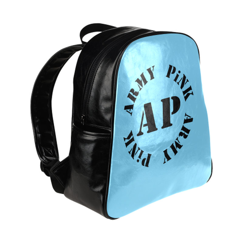 Round logo on blue Multi-Pockets Backpack (Model 1636) for  at ARMY PINK
