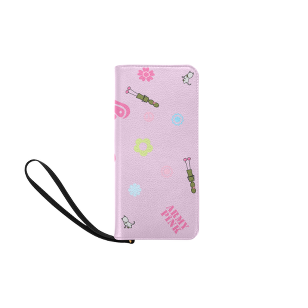 Logo print pink Clutch Purse for  at ARMY PINK