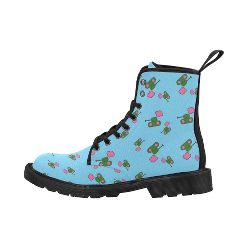 Tanks and clouds blue Boots for 60.00 at ARMY PINK