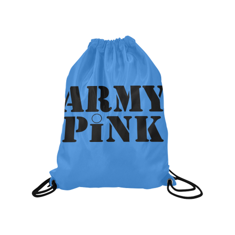 "drawstring name blue Medium Drawstring Bag Model 1604 (Twin Sides) 13.8""(W) * 18.1""(H) for  at ARMY PINK"