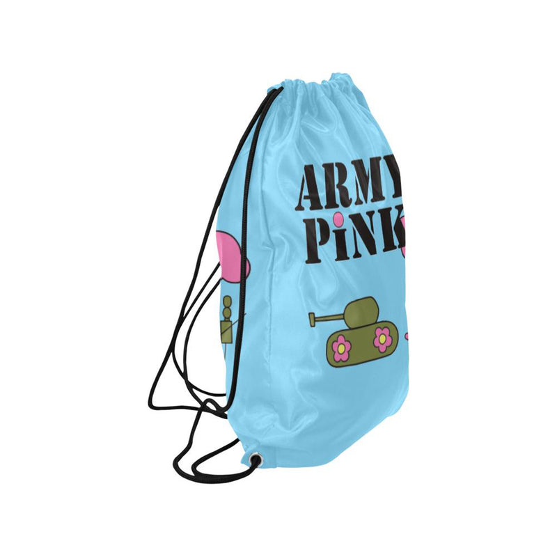 Blue logo Drawstring Bag for  at ARMY PINK