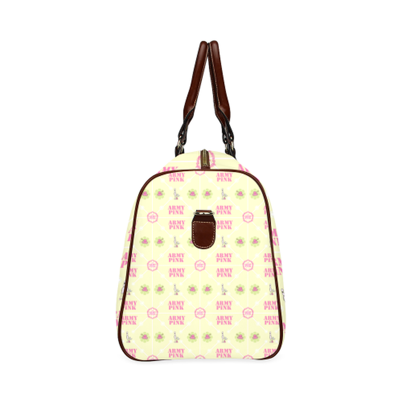 large travel bag diamond marchers aop on yellow Waterproof Travel Bag/Large (Model 1639) for  at ARMY PINK