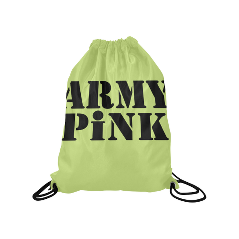 Green Army Pink Drawstring Bag for  at ARMY PINK
