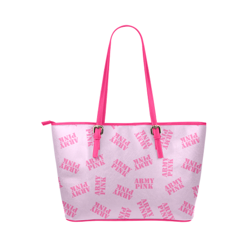 Pink stamp leather Tote Bag for  at ARMY PINK