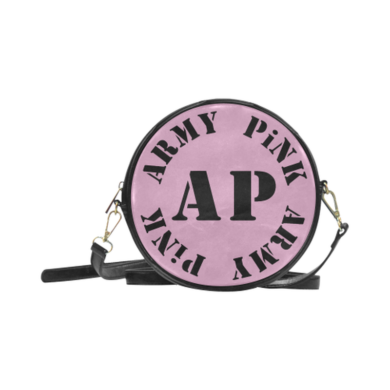 AP Logo On Pink Round Sling Bag ${product-type) ${shop-name)