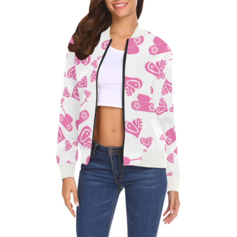 Love tank white Bomber Jacket for 55.00 at ARMY PINK
