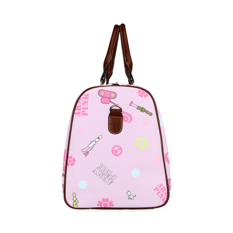 Small pink logo Travel Bag for  at ARMY PINK