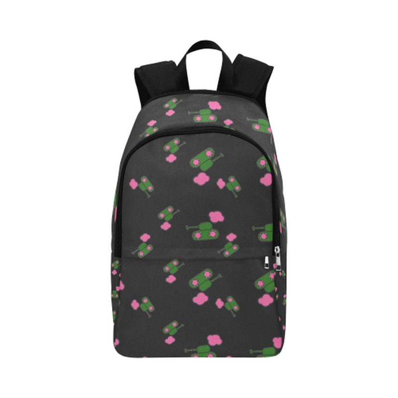 Black tank cloud print Fabric Backpack ${product-type) ${shop-name)
