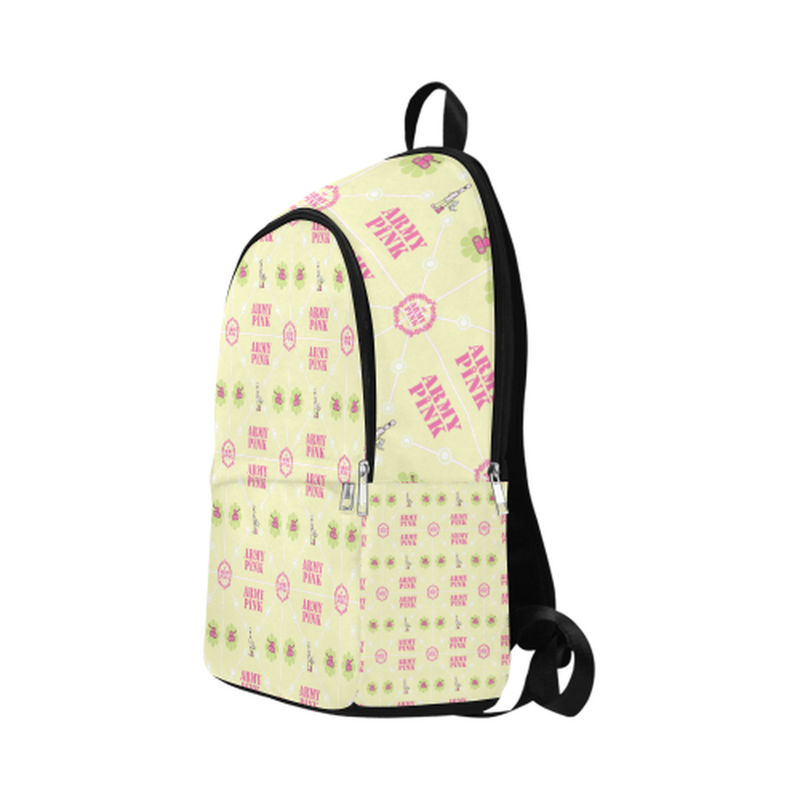 Logo diamond pattern on yellow Fabric Backpack for Adult (Model 1659) for  at ARMY PINK