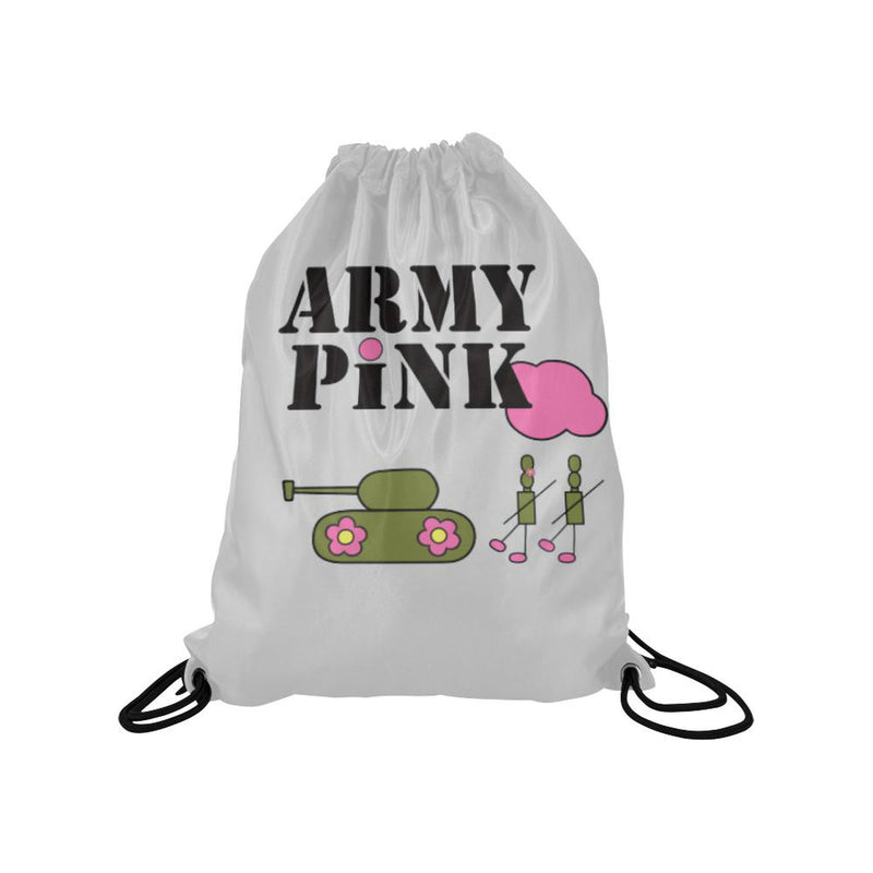 Gray logo Drawstring Bag for  at ARMY PINK