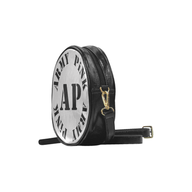 AP Logo On Gray Round Sling Bag ${product-type) ${shop-name)